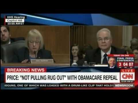 Senator Patty Murray grilling Trump