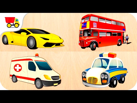 30 Cars Puzzles for Preschool Kids - Learn Transport for kids - Educational video for Children