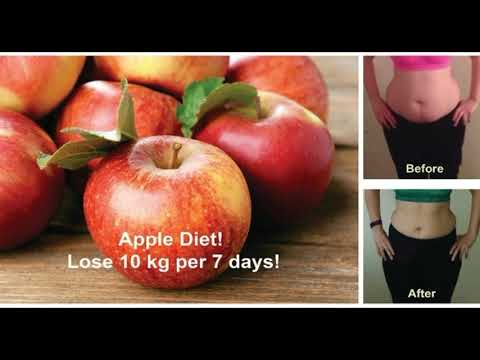 HOW TO LOSE 10 KG PER 7 DAYS WITH THIS UNBELIEVABLE APPLE DIET ! - 동영상