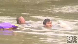 أنقاذ من سوبر مان حقيقى فى فيضانات باتون بأمريكا