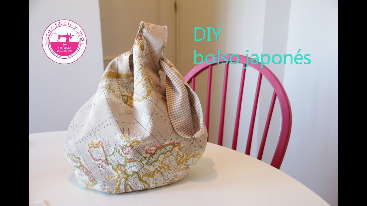 Cómo hacer un bolso japonés reversible fácil