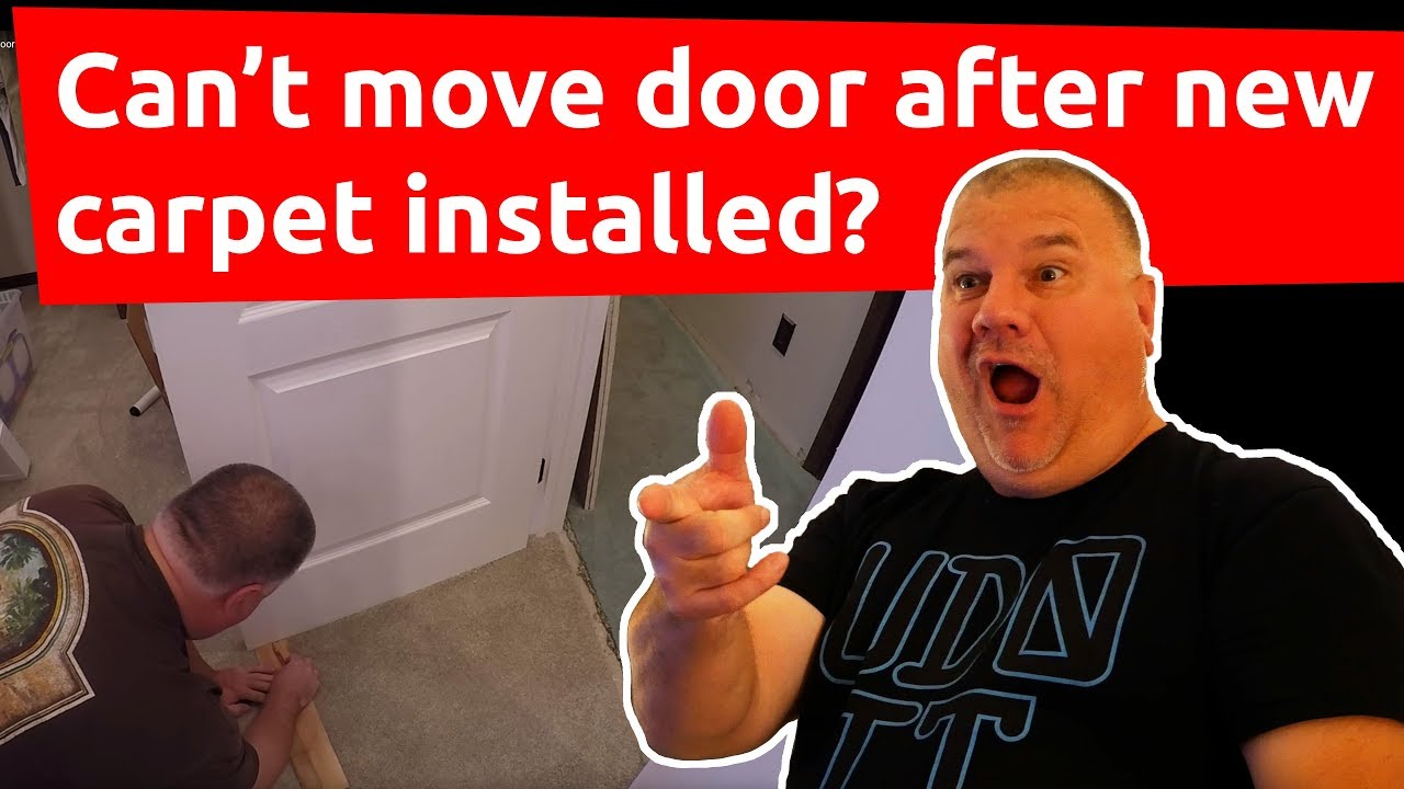 How To Trim A Door That Is Dragging On Carpet How To