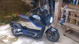 Motocicleta scooter eléctrica china Miku Max. Motor Bosch de 60 volts. Veracruz México