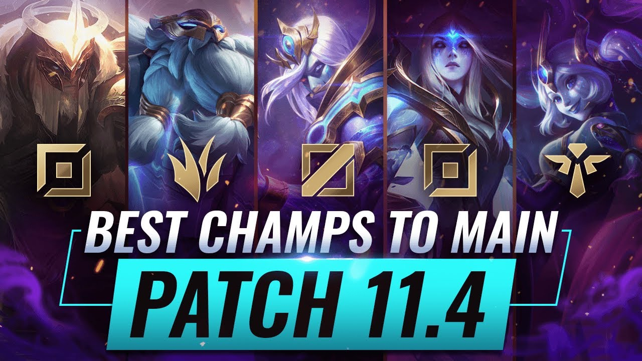 3 Best Champions To Main For Every Role In Patch 11 4 League Of Legends Youtube