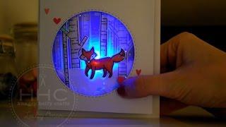 Light Up Winter Fox Shaker Card