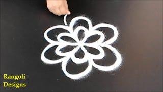 Simple kolam designs with 3X2 Dots || easy rangoli designs || muggulu designs with dots