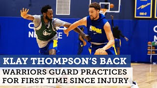 Warriors' Steve Kerr says Klay Thompson took 'good first step' in return to practice | NBC Sports BA