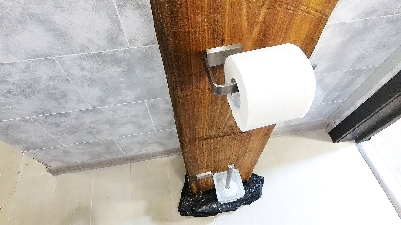 Unique Free Standing Toilet Paper Holder For Your Bathroom Youtube