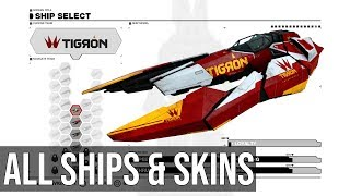 All ships and skins - WipEout Omega Collection