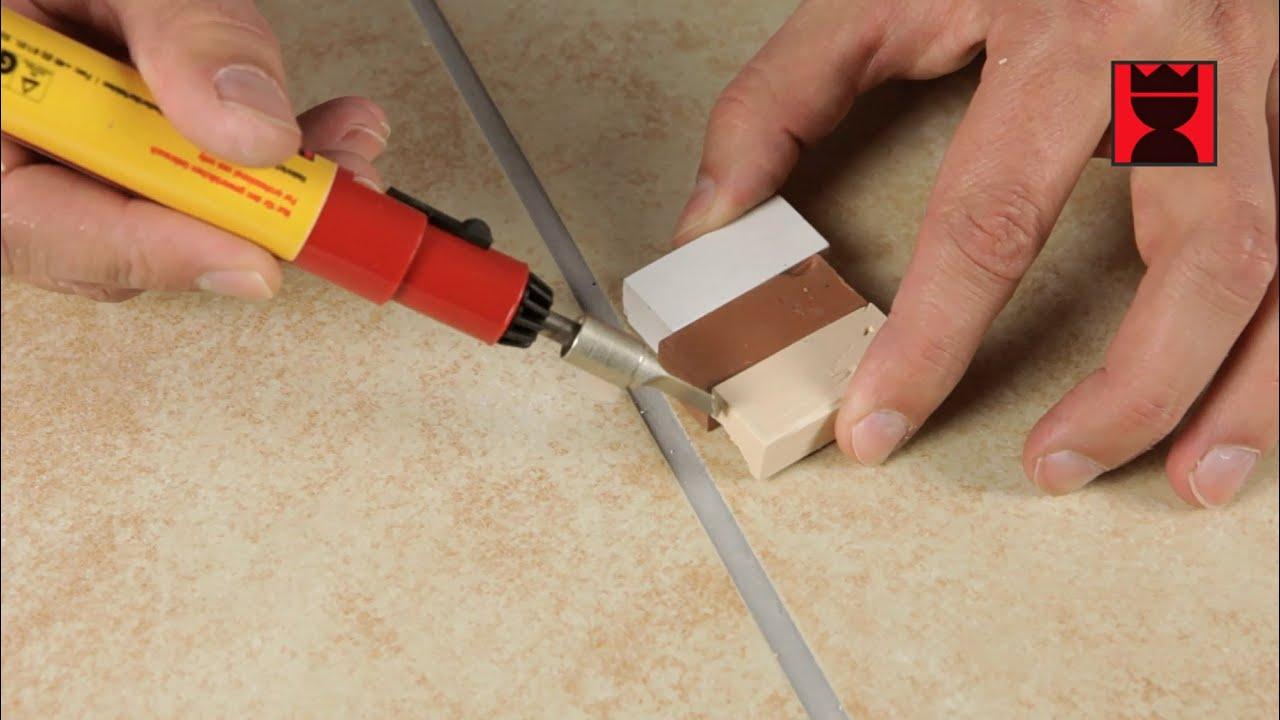 Fußboden Fliesen Reparieren ~ Kerami fill für löcher und abplatzungen in wand und bodenfliesen