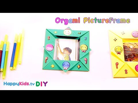 Origami Photo-frame | Paper Crafts | Kid's Crafts and Activities | Happykids DIY