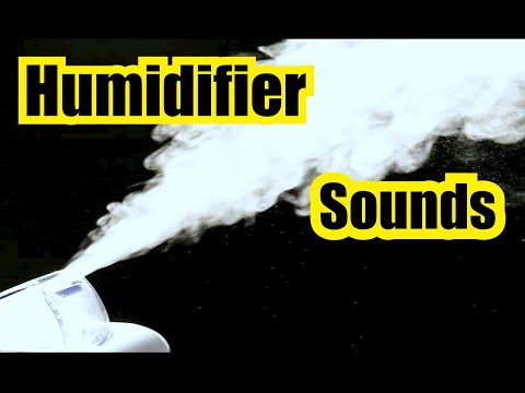 HUMIDIFIER SOUNDS for 13 HOURS of WHITE NOISE w BLACK SCREEN = SLEEP SOUNDS = Humidifier
