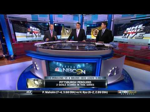 NBC Sports Pre Game. Paul Martin interview. 6/7/13 Pittsburgh Penguins vs Boston Bruins NHL Hockey