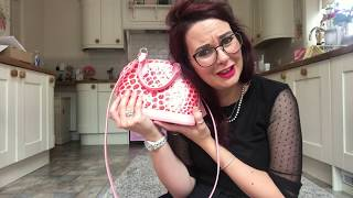 Unboxing reveal of Louis Vuitton alma bb handbag pink jungle dots gorgeous birthday gift