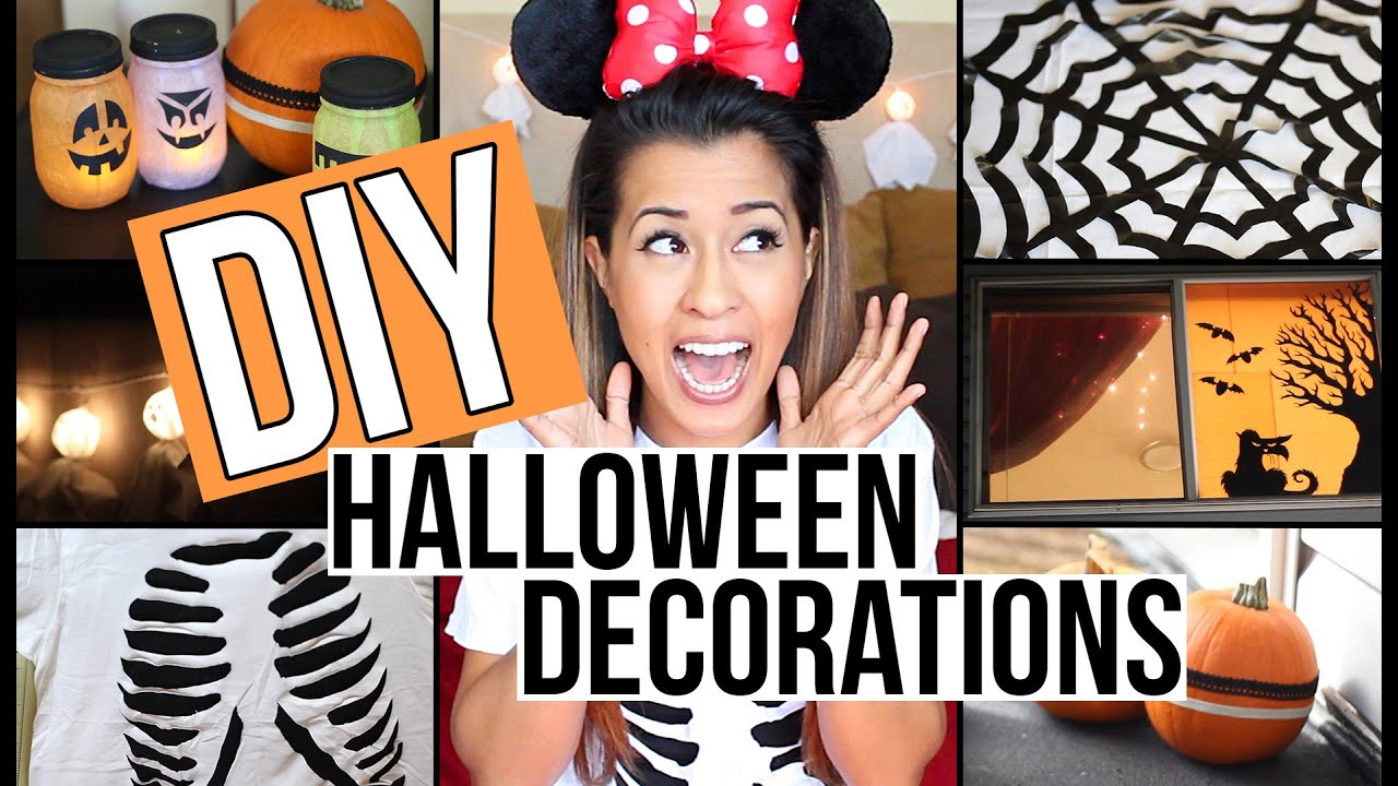 diy halloween decorations 6 easy affordable ideas ariel hamilton youtube - Affordable Halloween Decorations