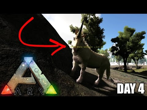 FINDING A UNICORN!: Official Server Road to Alpha ( Day 4 ) - Ark Survival Evolved