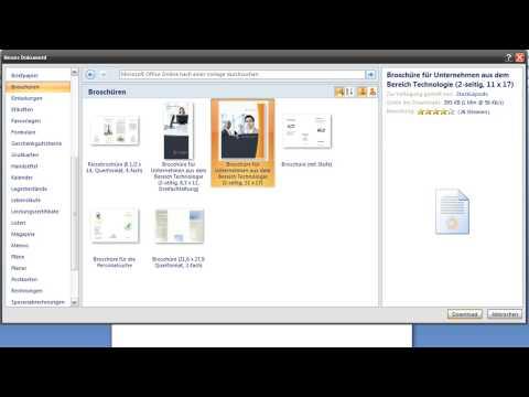 Word 2007 - Office Online Vorlagen verwenden