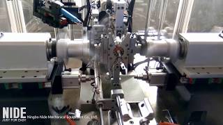 automatic flyer armature coil winding machine - motor manufacturing