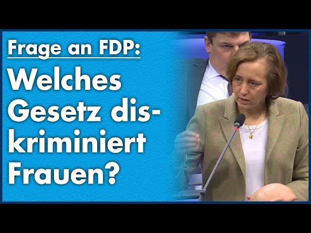 Beatrix von Storch (AfD) - Welches Gesetz diskriminiert Frauen?