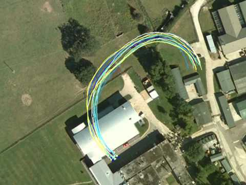 GPS tracking of pigeons flying in a flock