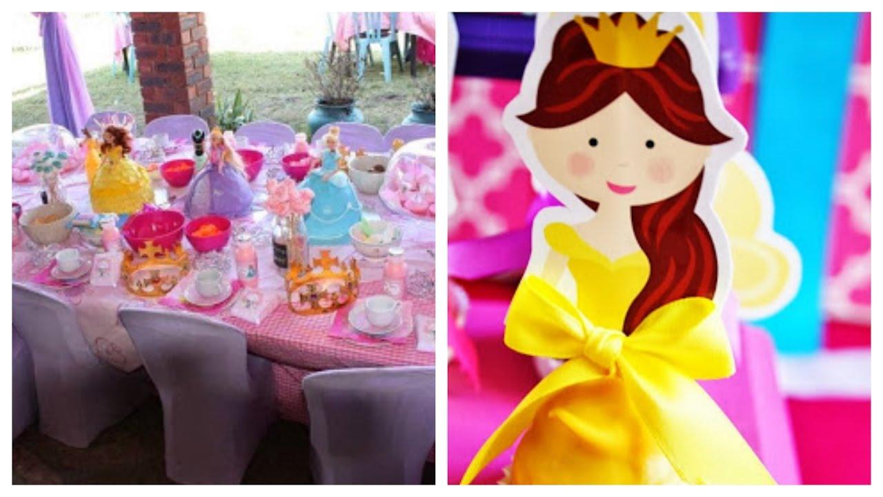 Princesas disney decoraci n de fiestas infantiles youtube - Decoracion fiesta princesas disney ...