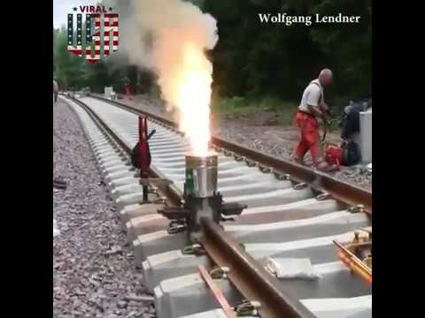Railroad Thermite Welding In Sweden Credit: Wolfgang Lendner _ Viral videos