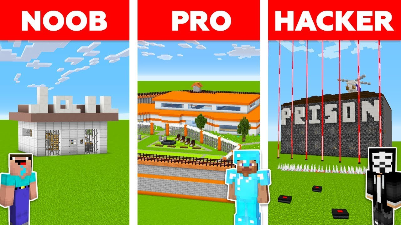 Minecraft NOOB vs PRO vs HACKER : PRISON ESCAPE CHALLENGE - Minecraft Animation