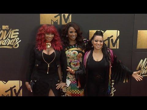 Salt-N-Pepa & DJ Spinderella #MTVMovieAwards Red Carpet