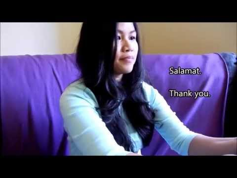 Learn Tagalog (Filipino) Conversation 1: Receiving Guests (Simple Common Phrases) English subtitles