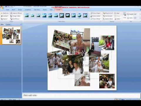 How to Make a Collage Using PowerPoint - YouTube