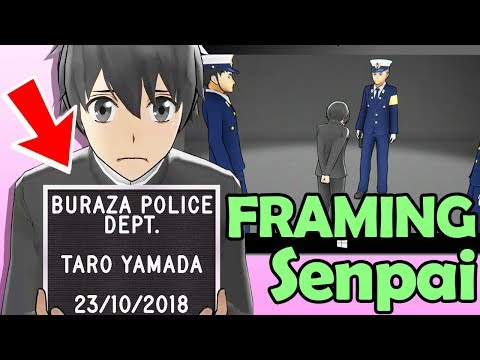 FRAMING Senpai! the ENDING you didn't see coming 😱 (Yandere Simulator Police Update *new*)