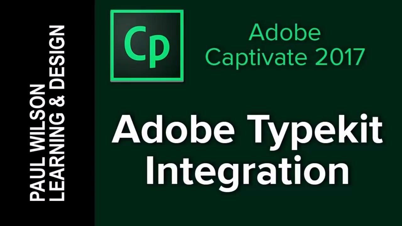 Adobe Captivate 2017 - Typekit Integration