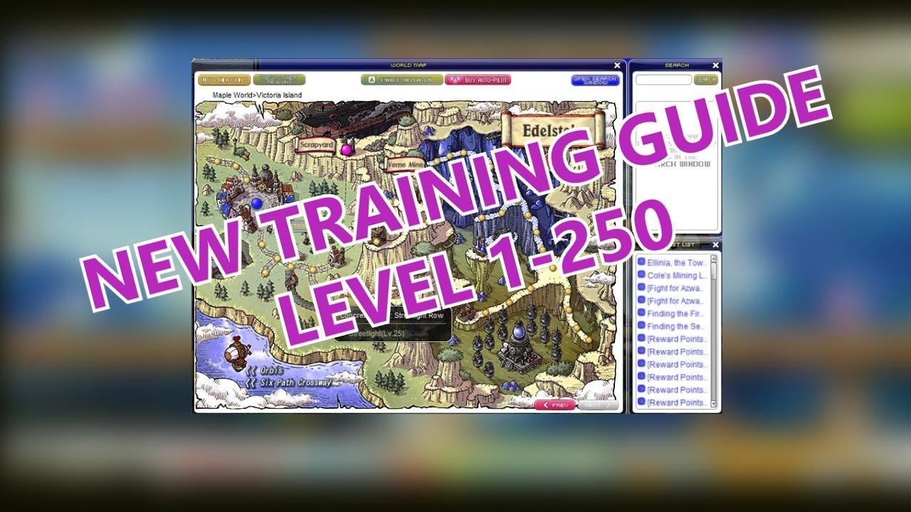 Best Maplestory Training Spots 1-250 Guide (GMS v 170