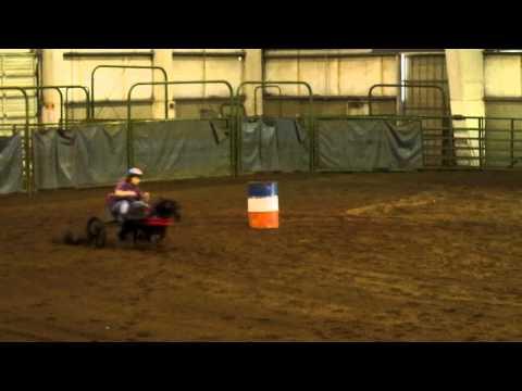 Bill The Miniature Horse Barrel Racing With A HYPERBIKE Cart.
