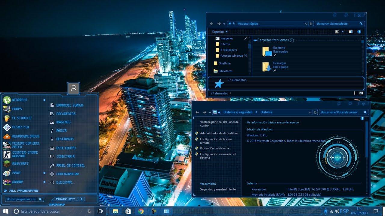 "Windows 10 Wallpaper Pack: PACK DE PERSONALIZACION ESTILO ""FUTURISTA"" PARA WINDOWS 10"
