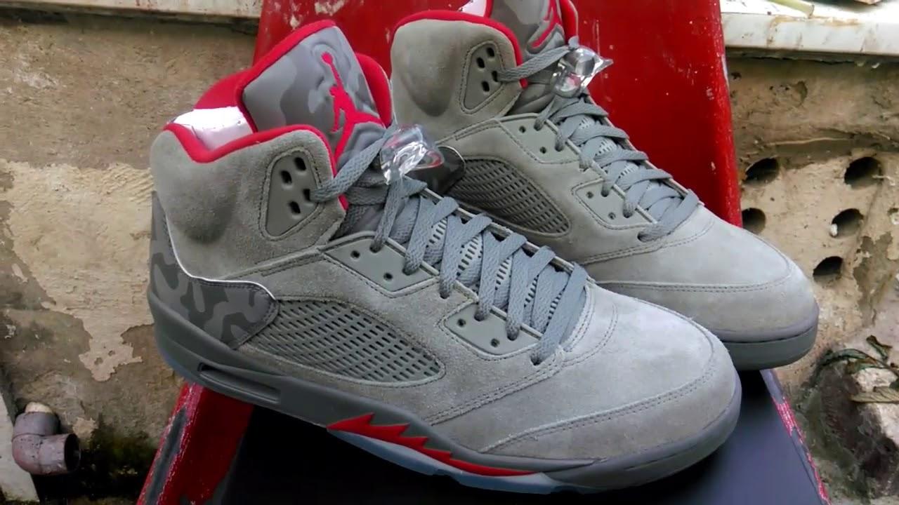 fc29910ede22 Jordan 5 Camo Unboxing   Review - YouTube