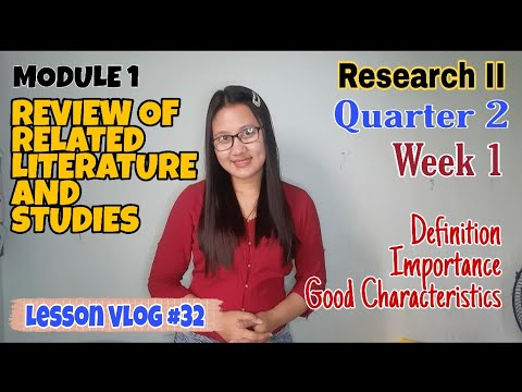How to Write Review of Related Literature and Studies | RESEARCH II