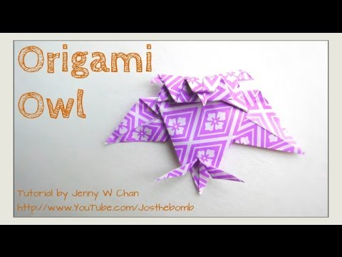 Origami Owl Tutorial How To Fold A Paper Owl Easy Kids Crafts