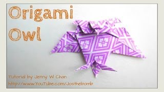 Origami Owl Tutorial, How To Fold A Paper Owl - Easy Kids Crafts - Diy Halloween Crafts