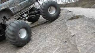 Rummy RC bashing the 1/6th Scale Chevy Monster Truck