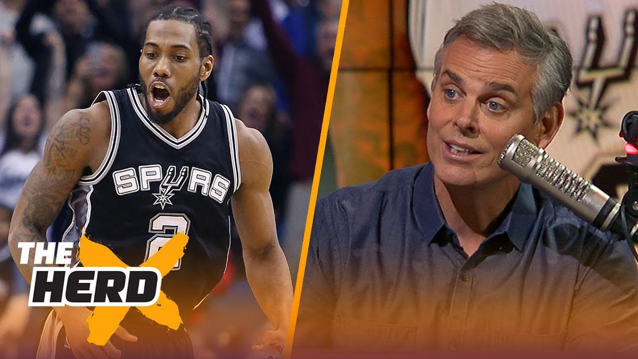 Colin Cowherd reacts to the Kawhi Leonard - DeMar DeRozan trade | NBA | THE HERD