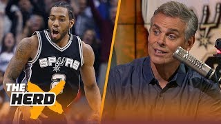 Colin Cowherd reacts to the Kawhi Leonard - DeMar DeRozan trade | NBA | THE HERD