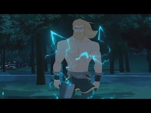 THOR(full Power) Vs BLACK PANTHER (Epic Battle) Full Fight | Marvel's Avengers Assemble [HD]