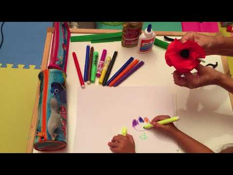 Lali Learns How to Make a Paper Poppy Arts and Crafts