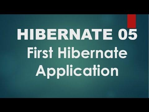 Hibernate - 05 - hello world application