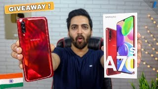 Samsung Galaxy A70s - Unboxing + GIVEAWAY !