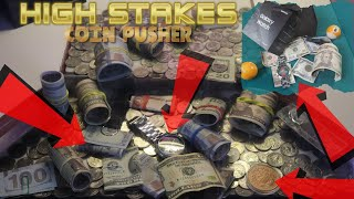 I Won OVER $200 in CASH, Smart Watch, & More On the High Stakes Coin Pusher!!!