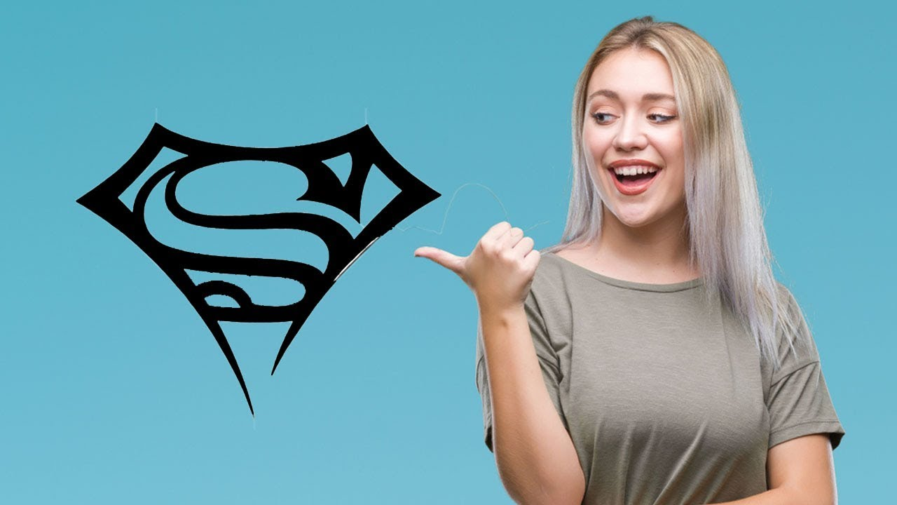 How to Draw Superman Tattoo - Tribal Tattoo Design Style