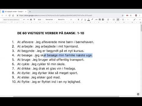 verber dansk