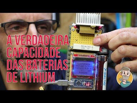 Verificador de capacidade de baterias lithium - DIY